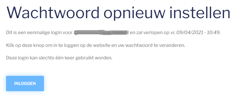 paswoord mail